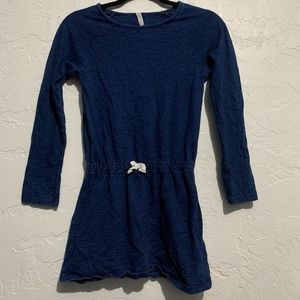 4/$25 Fabkids Blue Dress With White Lace Size XL